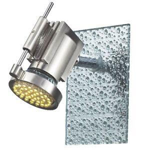 Wandspot-LED-Wandstrahler-Glas-LED-Wandstrahler-Eckig-mit-Tropfendekor-1-flammig