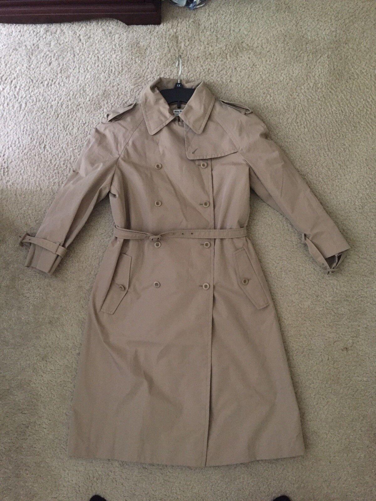 Miu Miu Trench Coat Size 42
