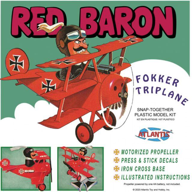 ATLANTIS TOY & HOBBY INC. Red Baron Fokker Tri-Plane Snap Kit