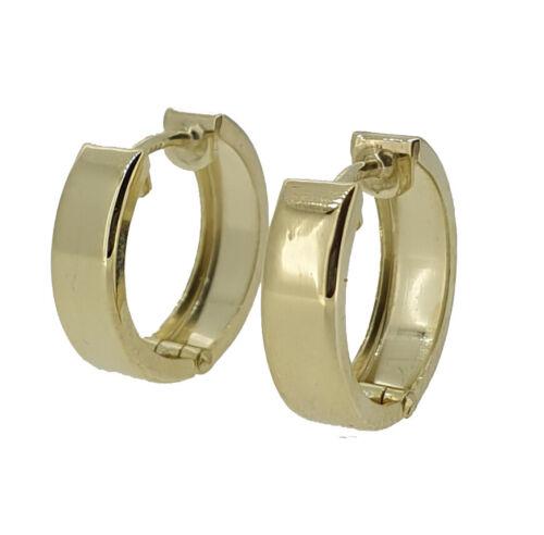 1 par de niños mujeres hombres vario bisagra creolen aretes real oro 333 nuevo