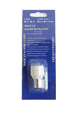 Reversing Beeper Back Up Alarm Warning  Alert Bleeper Light Bulb BA15S 12V