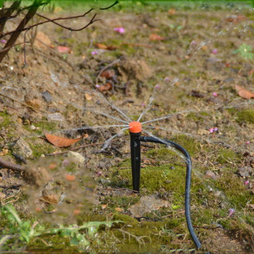 100× Micro Drip Irrigation Adjustable Watering Emitter Drippers Sprinklers pot