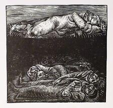 KARL-GEORG HIRSCH - Requiem - Jiddische Gedichte - Holzschnitt 1969/1970