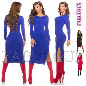 New-Women-039-s-Jumper-Dress-Knitwear-Long-Top-Sweater-Pullover-Size-6-8-10-XS-S-M