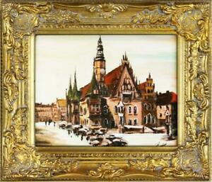 Oil-Painting-Pictures-Cities-Handmade-034-Wroclaw-034-G01338