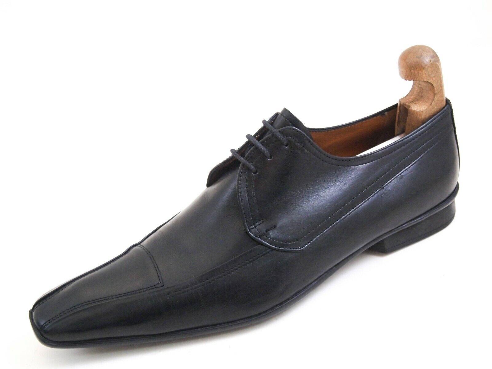 Kenzo Derby Oxfords Herren aus schwarzem Leder Größe UK 10 EU 44