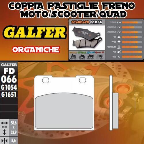 .FD066G1054 PASTIGLIE FRENO GALFER ORGANICHE ANTERIORI SUZUKI VL 1500 INTRUDER L