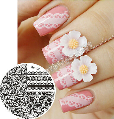 BORN PRETTY Nail Art Stamp Template Image Stamping Plates Manicure Nail Art 1-55