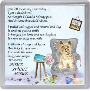 Cairn-Terrier-Dog-Coaster-034-HOME-SWEET-HOME-Poem-034-Novelty-Gift-by-Starprint