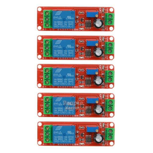 NE555 12V Relay Delay Module Power Single Channel Timer Switch 0-10 second CMX