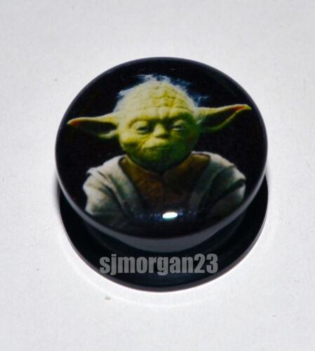 16 Mm Tallas Disponibles 4 Mm Yoda Star Wars Oreja Tornillo enchufe Camilla Flare