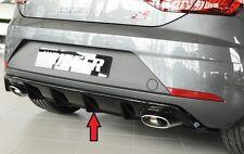 Heckeinsatz Diffusor Schwarz Glanz Seat Leon 5F CUPRA Facelift - RIEGER-Tuning