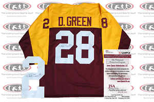 on sale 0024e 7843b Details about Darrell Green Signed Custom Throwback Jersey JSA Witnessed