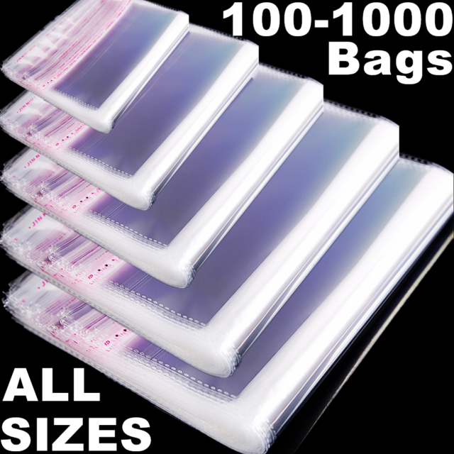 """100 9/"""" x 12/"""" Clear View Poly Mailers 2 Mil Self Seal Shipping Mailing Envelopes"""