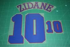 France 96/98 #10 ZIDANE Awaykit Nameset Printing