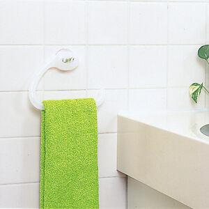 Truyoo-salle-de-bain-plastique-ventouse-rail-Serviette-Hanger-Titulaire-crochet