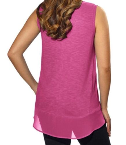 New Adrienne Vittadini Ladies High-Low Sleeveless Top Tank Top Extra Small XS