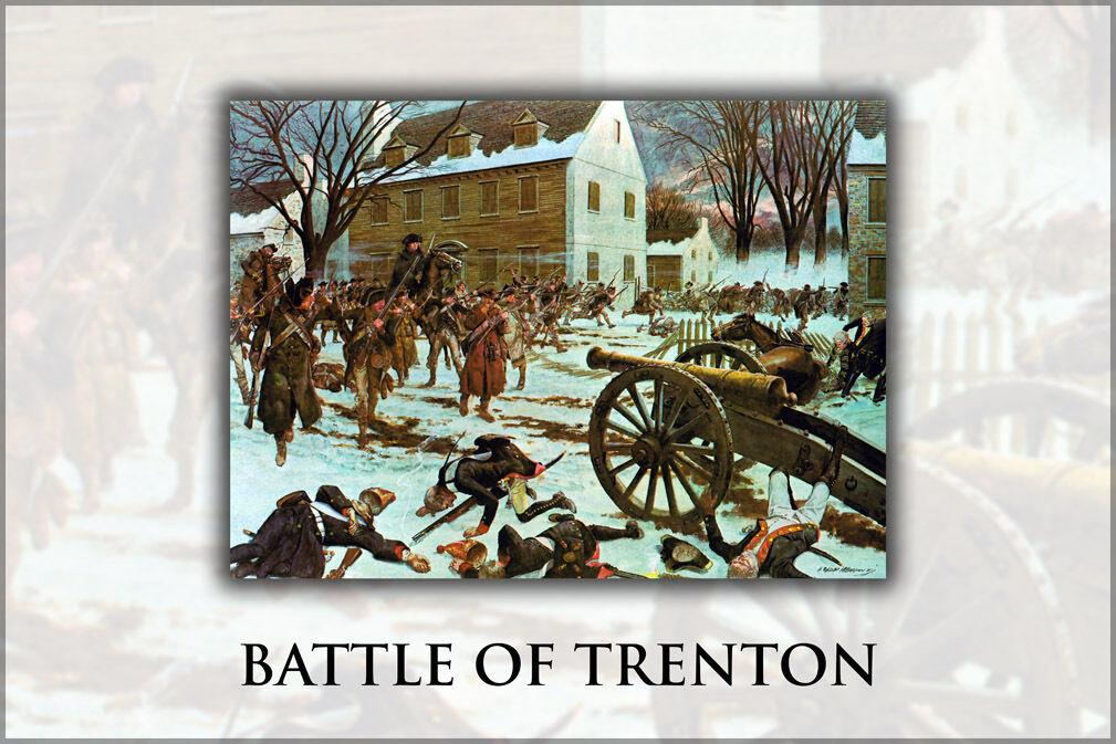Poster, Many Größes; Battle Of Trenton, By H. Charles Mcbarron, Jr., 1975
