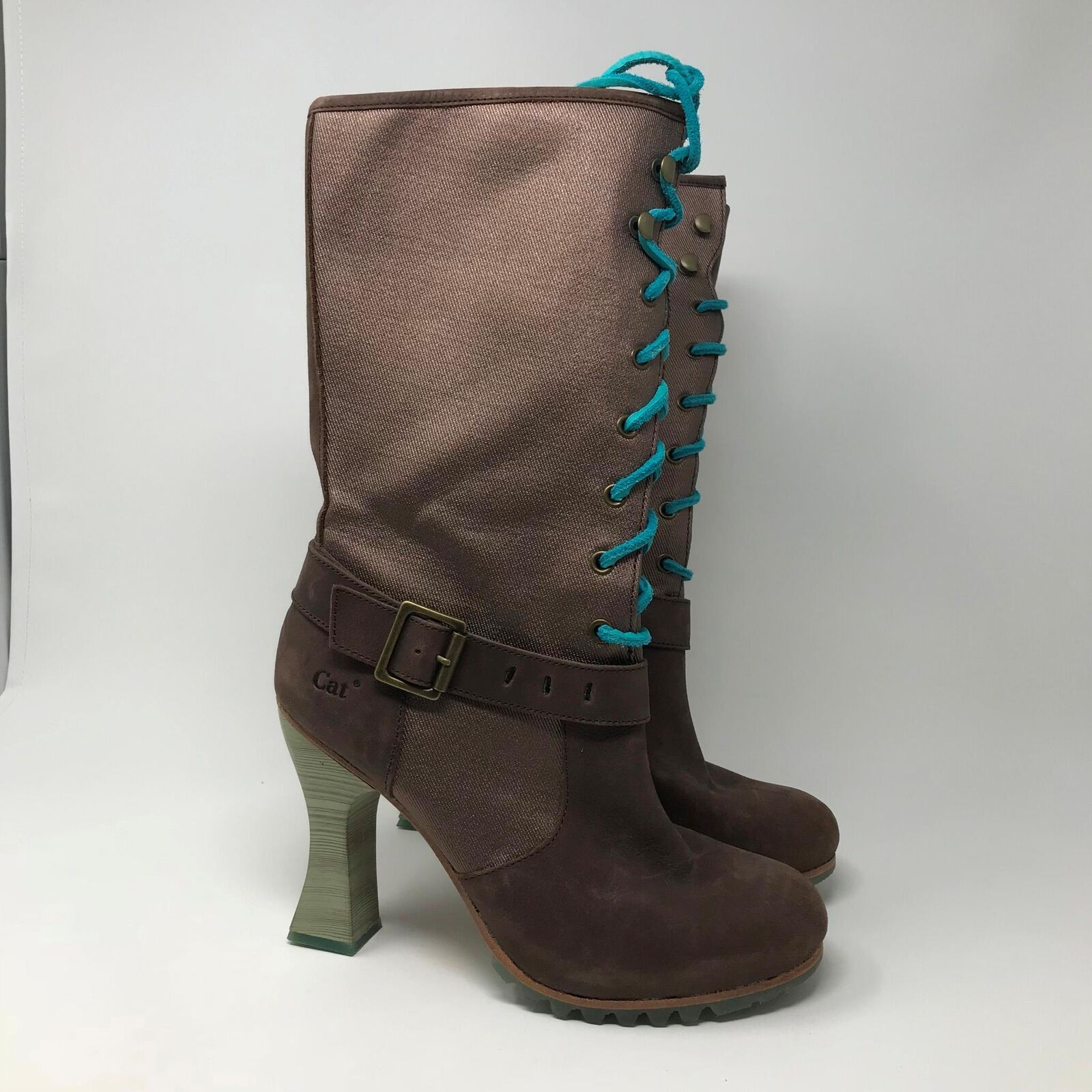 Caterpillar Women's 4  High Heel Lace Up Boots Size  9