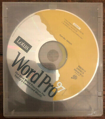 lotus word pro 97 for windows 3 1 cd rom software disc only ebay ebay
