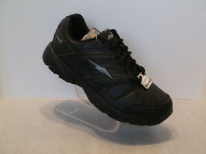 aea80a7b23a3 AVIA (PETER) BLACK CUSHIONED COMFORT MEN S WALKING SIZE 7 WIDE NEW ...