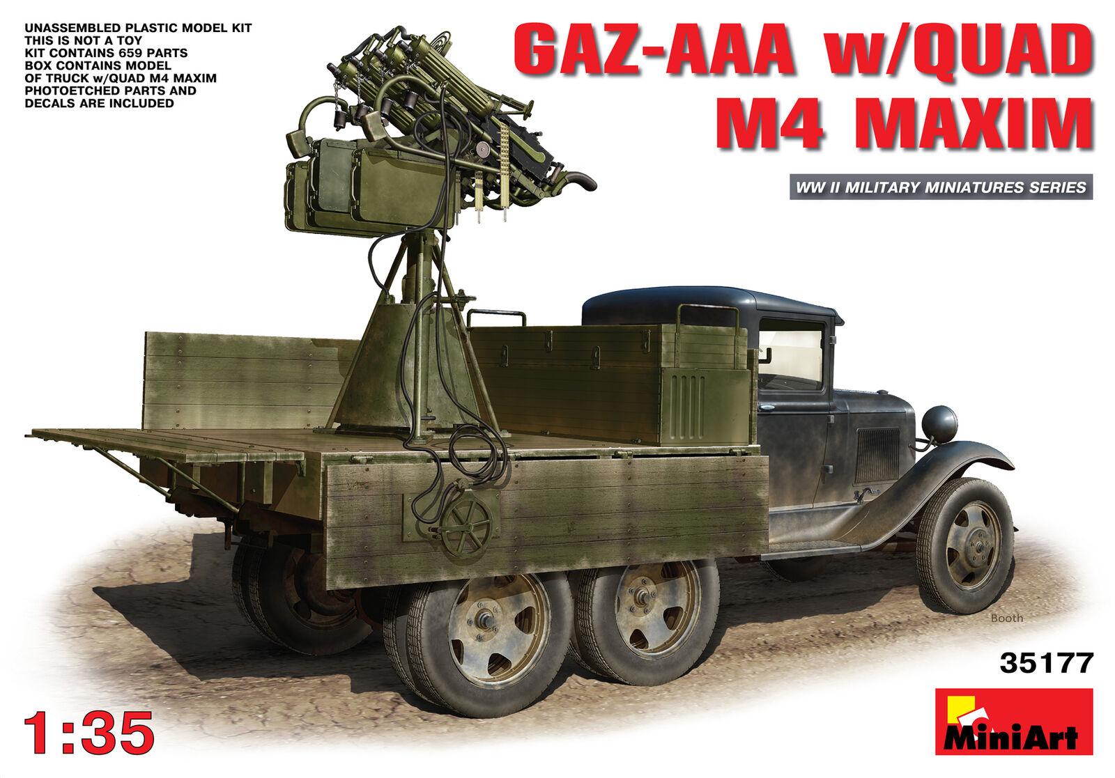 Miniart 1 35 GAZ-AAA w Quad M4 Maxim