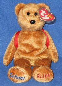 TY 123's the BEAR BEANIE BABY - MINT with MINT TAG