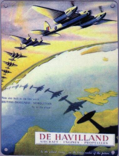 New 15x20cm DeHavilland Mosquito WW2 reproduction vintage metal advertising sign