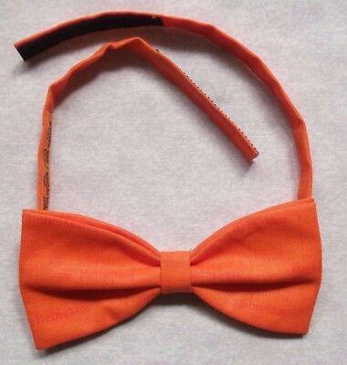 Unito Vintage Papillon Da Uomo Dickie Papillon Regolabile Arancione Mandarino-