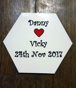 Personalised Custom Hexagon Coaster