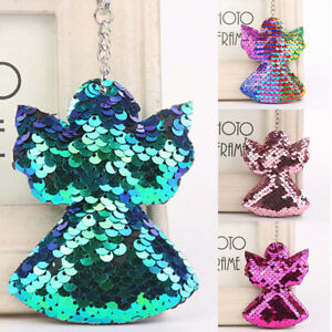 Angel-sequin-key-pendant-colorful-stuffed-doll-Kids-toys-girls-bag-hang-chain-xl