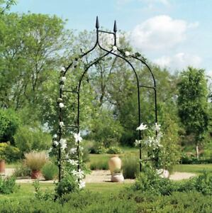 Wedding Arbor Ivy Trellis Rose Garden Arch Metal 8 ft Patio Deck