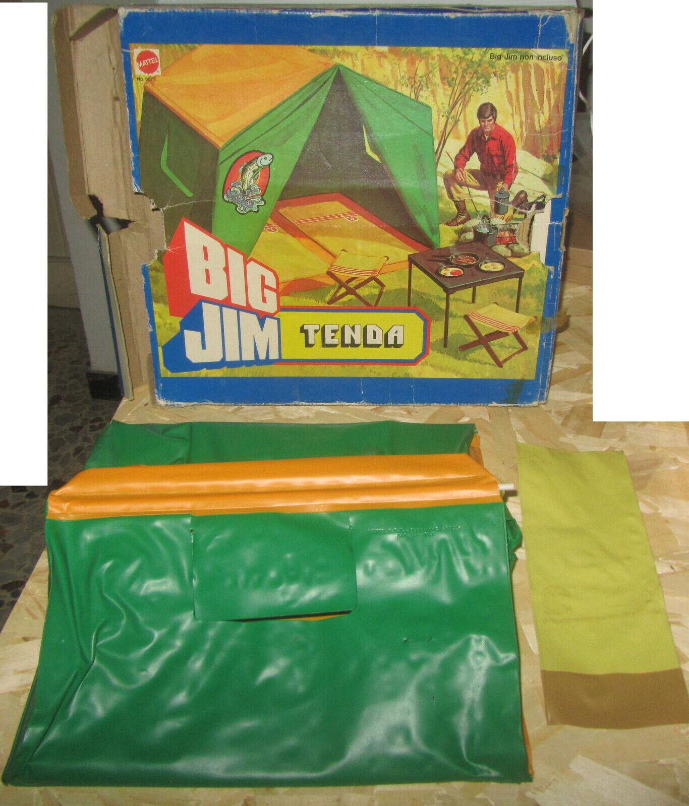 BIG JIM MATTEL Tenda 8873 prima versione INCOMPLETA SPESE GRATIS