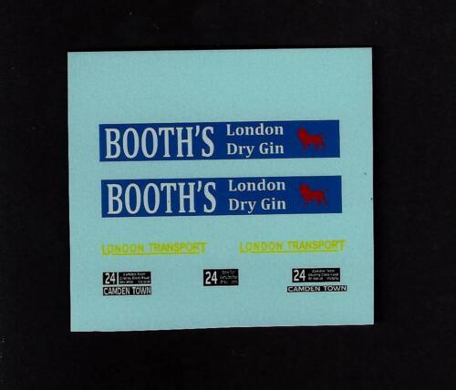 Matchbox custom//code 3 transfers//decals Para 5d London Bus