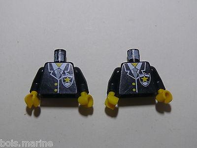 Lego 2 torses set 6250 6249 6296 6281 //2 white torso from minifig
