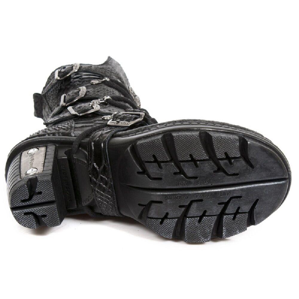 NEW Rock Donna Pelle Da Motociclista serpente stampato tacco 005.S19 metallico Boot-neotr 005.S19 tacco a18f6e