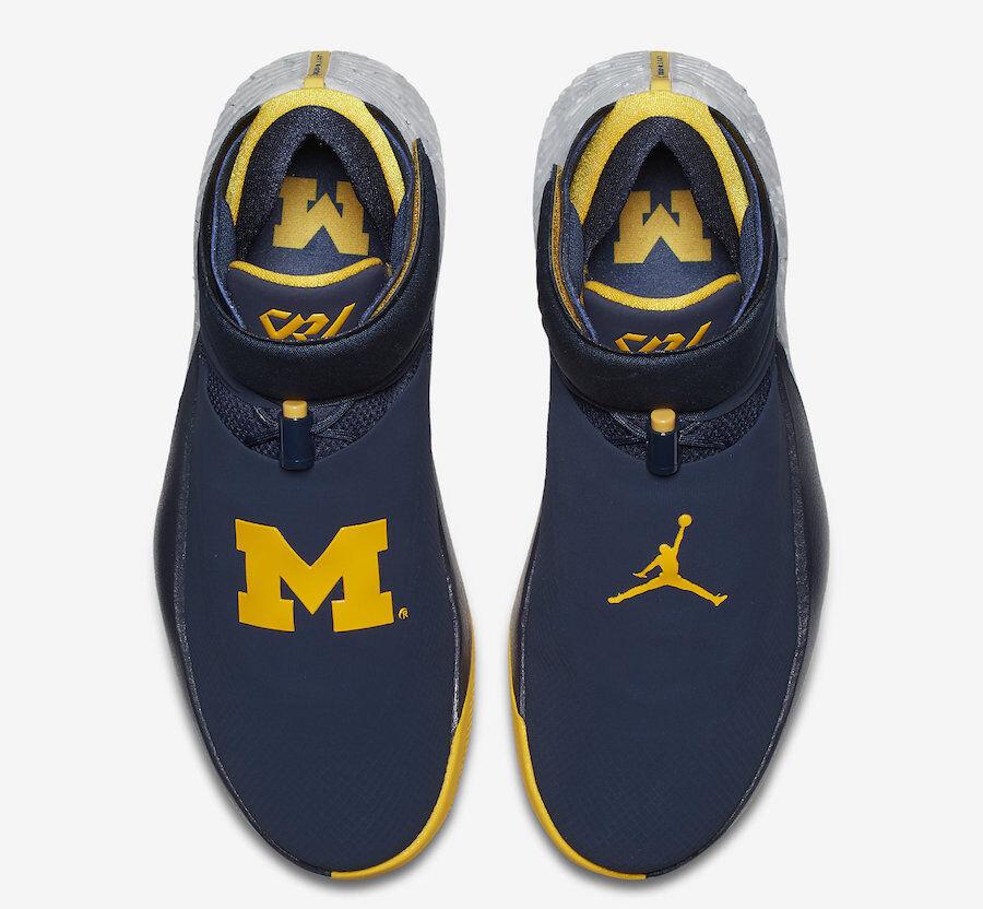 Nike jordan perché non michigan wolverines westbrook zero Uomo.