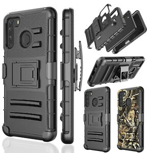 For-Samsung-Galaxy-A21-Shockproof-Belt-Clip-Kickstand-360-Full-Armor-Case-Cover