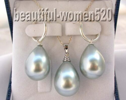 X0135 beautiful 20mm shell pearl drip earring Sterling Silver necklace pendant