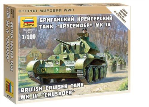 Zvezda 6227 - 1/100 Wargame Addon WWII Britischer Tank / Panzer Crusader Iv -Neu