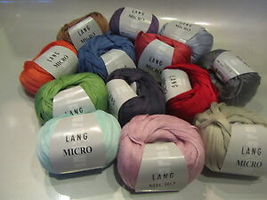 Lang MICRO Yarn - choose from 13 colors