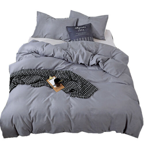 New Nordic Bedding Solid Color Matte Three-piece European and American Bedding