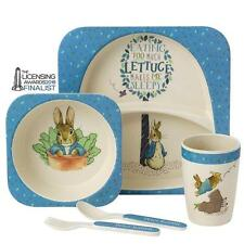 Beatrix Potter Peter Rabbit Bunny Organic Bamboo Baby Dinner Set A27754