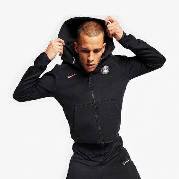 Janice Mente Equipo de juegos  Nike Paris Saint-germain PSG Tech Fleece Training Jacket Black (m ...