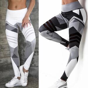 Damen-Stretch-Hose-Stoffhose-Skinny-Leggings-Leggins-Sporthose-Fitnesshose-Tight