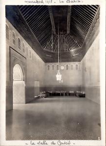 Maroc, Marrakech, palais de la Bahia, salle du conseil, 1918 Vintage print,  T