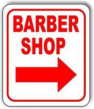 Barber Shop Right Arrow Metal Aluminum Composite Sign