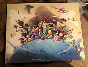 Club Nintendo Legend of Zelda wind waker poster 22 inches x 28 inches link