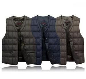 New-Mens-Winter-Duck-Down-Puffer-Casual-Coats-Vest-Slim-Fit-Sleeveless-Waistcoat