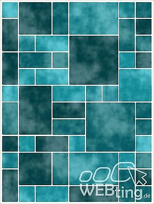 15x20cm Grün Fliesenaufkleber Fliesen Aufkleber Fliesenimitat Mosaik M8
